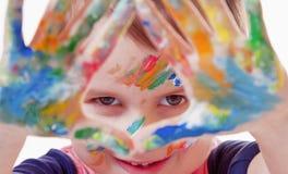 五颜六色的被绘的现有量 E 库存图片