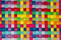 五颜六色的被编织的背景 免版税库存照片