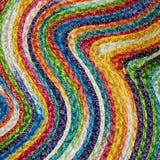 五颜六色的被编织的西沙尔麻羊毛地毯taxtures &背景 库存图片
