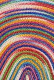 五颜六色的被编织的西沙尔麻羊毛地毯taxtures &背景 免版税库存图片