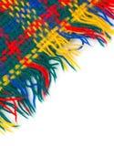 五颜六色的被编织的镶边围巾 库存图片