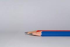 五颜六色的被隔绝的铅笔 免版税库存照片