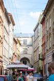 五颜六色的被绘的房子 免版税图库摄影