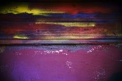 五颜六色的被绘的木板 库存照片