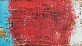五颜六色的被绘的老土气破旧的木纹理 免版税库存照片