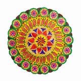 五颜六色的装饰手拉的坛场样式 库存图片