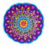 五颜六色的装饰手拉的坛场样式 图库摄影