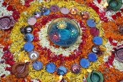五颜六色的装饰diwali 库存照片