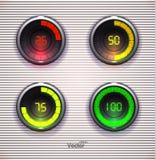 五颜六色的装货锭床工人 预紧器进展网下载酒吧 网或App的设计Elementt 免版税库存照片
