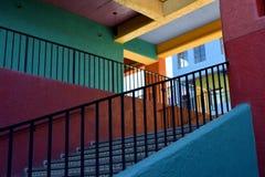 五颜六色的西南楼梯 免版税图库摄影