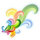 五颜六色的要素漩涡 库存例证