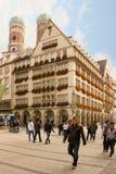 五颜六色的角落在老镇。慕尼黑。德国 库存照片