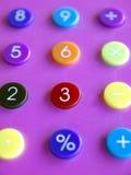 五颜六色的计算器 免版税库存照片