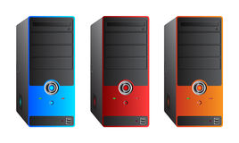 五颜六色的计算机盒 免版税库存照片