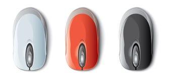 五颜六色的计算机鼠标 库存图片