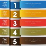 五颜六色的计算的丝带 免版税库存照片