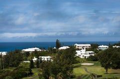 五颜六色的议院在百慕大 免版税库存照片