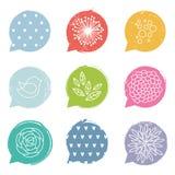 五颜六色的讲话泡影集合 免版税库存图片
