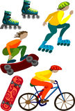 五颜六色的设备例证体育运动向量 免版税库存照片