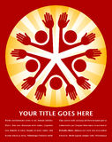 五颜六色的设计人旭日形首饰 免版税库存照片