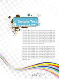 五颜六色的设计传单通知 免版税库存照片