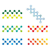 五颜六色的设计分子商标元素。 免版税库存照片