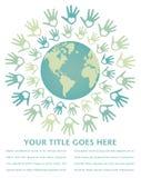 五颜六色的设计和平团结世界 免版税库存图片