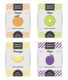 五颜六色的设计套果子标签2 免版税库存图片