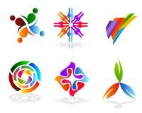 五颜六色的设计要素 库存图片