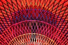 五颜六色的详细资料遮阳伞红色 免版税图库摄影