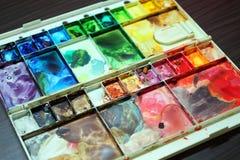 五颜六色的调色板 免版税库存照片