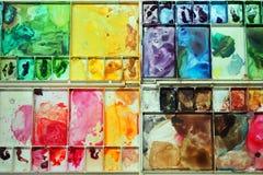 五颜六色的调色板 免版税图库摄影