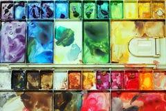 五颜六色的调色板 库存照片