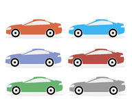 五颜六色的象汽车 免版税图库摄影