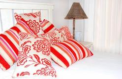 五颜六色的质朴的枕头 图库摄影