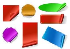 五颜六色的贴纸集 免版税库存照片