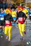 五颜六色的赛跑者 库存照片