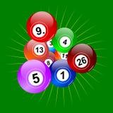 五颜六色的赢取的抽奖球 免版税图库摄影