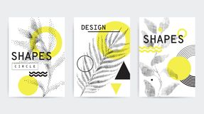 五颜六色的趋向几何构成 免版税图库摄影