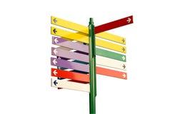 五颜六色的路标 免版税库存图片