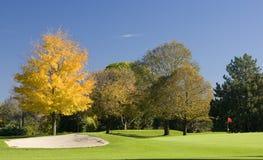 五颜六色的路线高尔夫球危险等级 库存照片