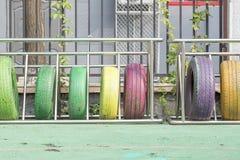 五颜六色的轮胎 库存图片