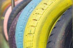五颜六色的轮胎 免版税库存照片