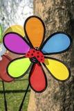 五颜六色的轮转焰火玩具 免版税库存图片
