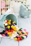 五颜六色的软心豆粒糖 免版税库存图片
