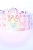 五颜六色的软的迷离心脏形状金刚石镯子 免版税库存照片