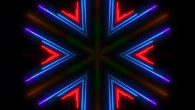 五颜六色的轻的氖 抽象数字式背景 库存照片