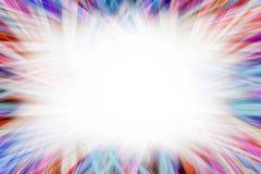 五颜六色的轻的starburst边界 免版税图库摄影