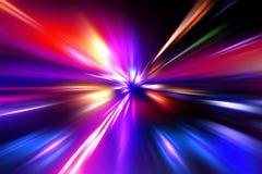 五颜六色的辐形光芒四射的作用 免版税图库摄影