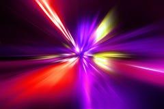 五颜六色的辐形光芒四射的作用 免版税库存照片